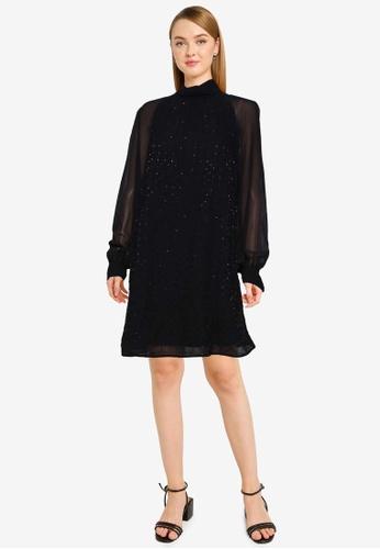 French Connection black Batek Embellished Dress CBE2CAAA6EB0CBGS_1