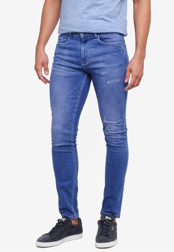 Burton Menswear London blue Electric Blue Tyler Skinny Fit Jeans 932D9AA9BCFD58GS_1
