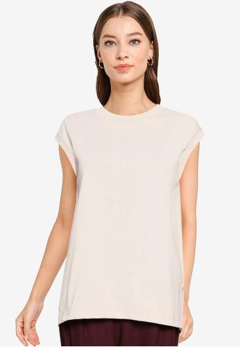 GLOBAL WORK beige Knit T-Shirt 703D8AADD5FA91GS_1