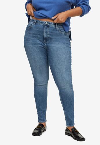 Violeta by MANGO blue Plus Size Soho Skinny Jeans 8B3DCAA9C4138AGS_1