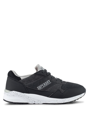 Superdry black Street Runner Trainer B1775SHB8550B5GS_1