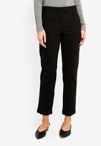 Max Studio black Knit Slack Pants 5E7CDAA0A830F0GS_1