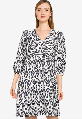 Vero Moda white Dicthe 3/4 Short Dress C4DC3AA8FC8AD2GS_1
