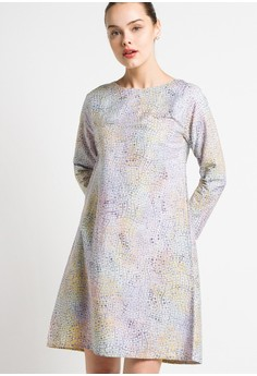 harga Dot Weave Zhafania Dress Zalora.co.id