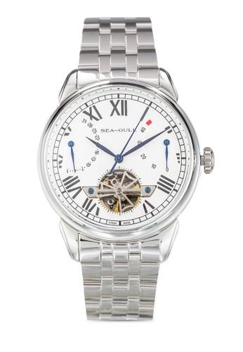 Seagull 816.esprit台北門市522(ST2505 機械機芯) 42mm 簡約不銹鋼鏤空圓錶, 錶類, 飾品配件