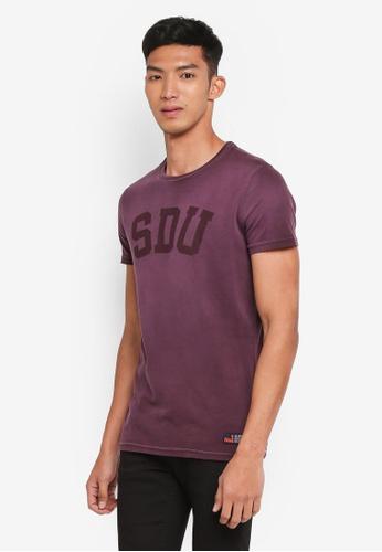 Superdry purple Heritage Wash S/s Tee 4394BAA0C43080GS_1