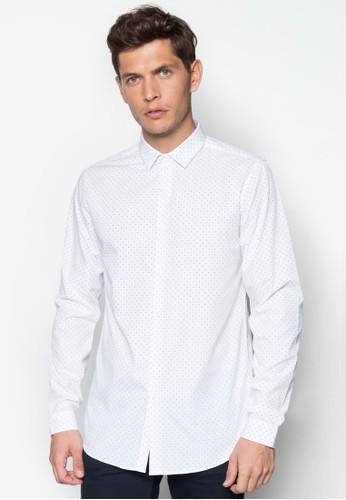 點點印花長袖襯衫, esprit 評價服飾, 襯衫