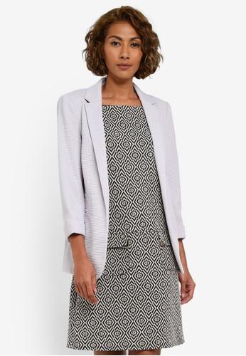 Wallis grey Grey Ribbed Blazer Jacket WA800AA0RZHWMY_1