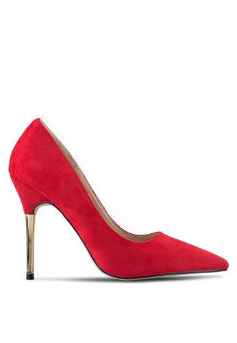 addicts anonymous red Alexis Suede Heels AD479SH0SR54MY_1