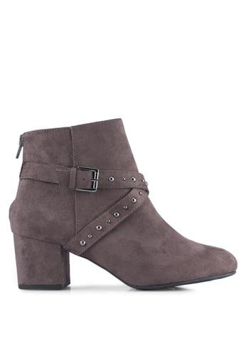 Dorothy Perkins grey Grey 'Aliyah' Ankle Boots DO816SH0ST0RMY_1