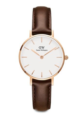 Daniel Wellington brown Petite Bristol Watch 28mm DA376AC0SBUDMY_1