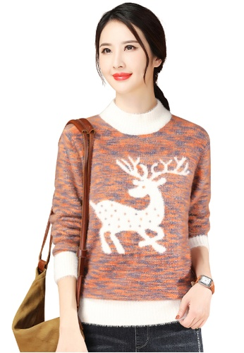 A-IN GIRLS multi Fashion Half High Neck Mixed Color Knitted Sweater 90EEAAADE0D36DGS_1