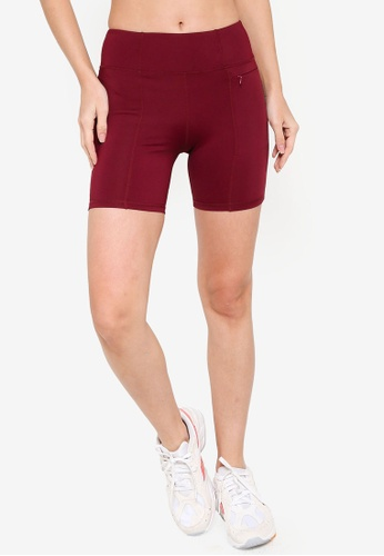 ZALORA ACTIVE red Contrast Side Track Shorts D3754AA060E810GS_1