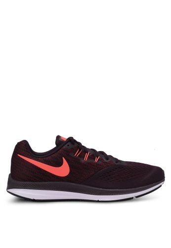 Nike black and red Men's Nike Air Zoom Winflo 4 Running Shoes NI126SH0RWGHMY_1