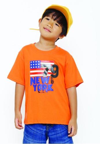 YEGE orange YeGe T'shirt Anak Polos Orange F1243KAE217189GS_1