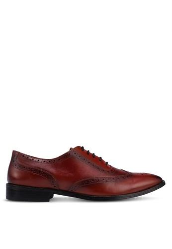 Acuto brown Leather Business Shoes B32E3SH0E3B5F5GS_1