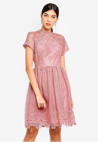 Little Mistress pink Apricot Lace Prom Dress 60FE9AAE224060GS_1