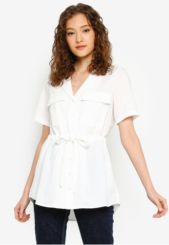 Pieces 白色 抽繩襯衫 4077DAA5552524GS_1
