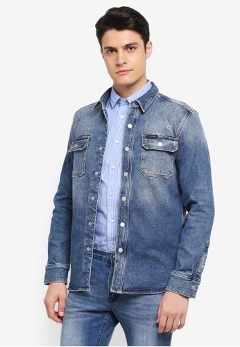 Calvin Klein blue CK Shirt Jacket - Calvin Klein Jeans 14E3BAABD6CB5EGS_1
