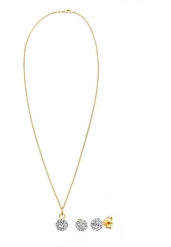 ELLI GERMANY 白色 首饰套装基本水晶镀金 FB874AC210F92DGS_1