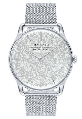August Berg silver MORRIS & CO PURE Silver Strawberry Thief SS Mesh 38mm E9593AC0C85170GS_1