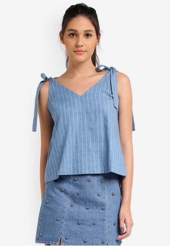 Something Borrowed blue Tie Detail Cami Top 37734AAD42EBC5GS_1