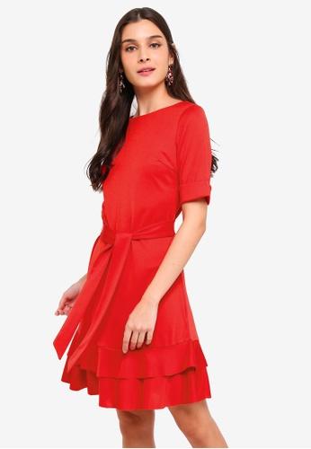 Buy ZALORA Folded Sleeves Ruffle Hem Dress Online on ZALORA Singapore 14b909ac2
