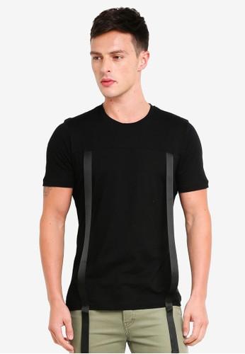 Flesh IMP black Challa T-Shirt D1C2DAAC7E56E5GS_1