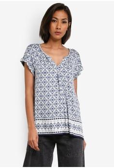 【ZALORA】 Printed Short Sleeve Top