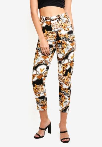 TOPSHOP 多色 Chain Print Mom Jeans 09B81AAD55B046GS_1