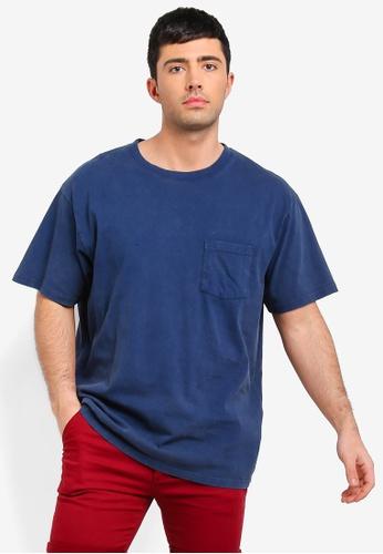 Cotton On 藍色 短袖口袋T恤 D2BB4AAD86F644GS_1