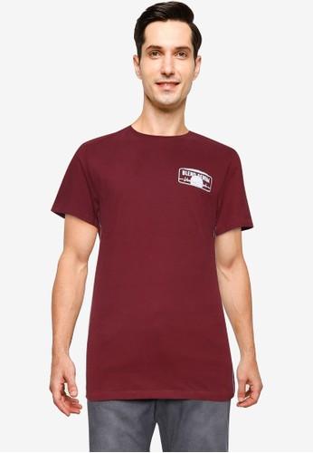 BLEND red Beach Logo Crew Neck T-Shirt A80CDAAC9377E5GS_1