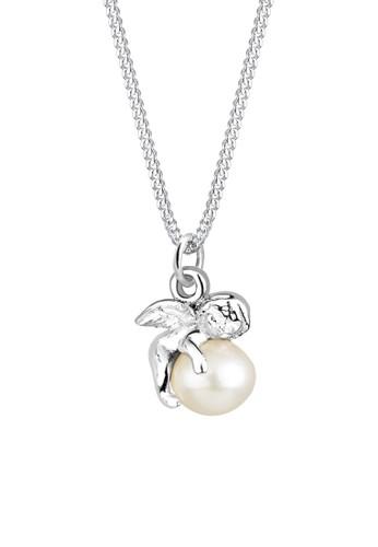 Elli Germany white Perhiasan Wanita Perak Asli - Silver Kalung Angel Freshwater Pearl 287F0AC0D509C1GS_1