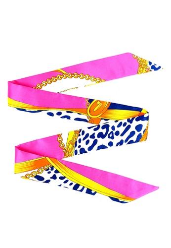 BELLE LIZ multi Ribbon Decoration Bag Silk Scarf Style 2 7BEAAAC51B24E8GS_1