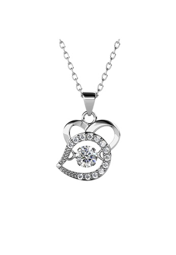 Her Jewellery silver 12 Dancing Zodiac Pendant (Rat) WG - Made with premium grade crystals from Austria 6F612AC14C9F26GS_1