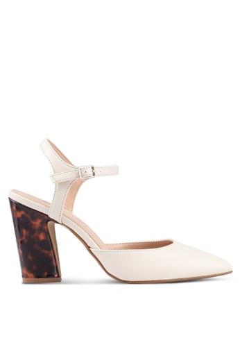 Dorothy Perkins 白色 尖頭粗跟鞋 51C09SH745B615GS_1