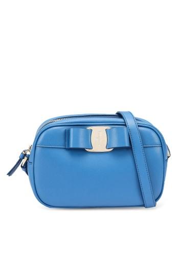 Ferragamo blue Vara Camera Crossbody Bag (zt) 9D67DAC74DB9A4GS_1