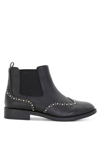 London Rag black Studded Oxford Ankle Boots SH1699 EF580SHEB9C13BGS_1