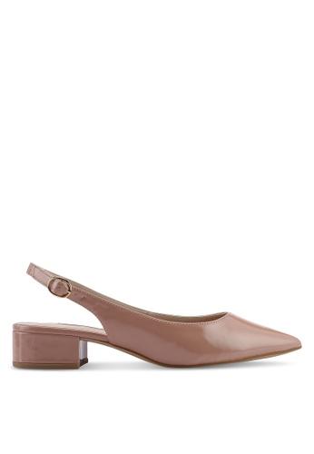 09d98d5224 Dorothy Perkins pink Blush Pu 'Daphne' Block Heel Slingback Court Shoes  BAF9FSH013C560GS_1