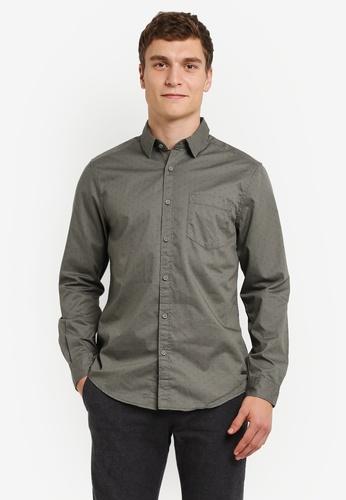 ESPRIT green Woven Long Sleeve Shirt ES374AA0RXWWMY_1