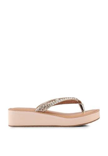 ALDO gold Unarawiel Wedge Sandals DC66BSHD468F27GS_1