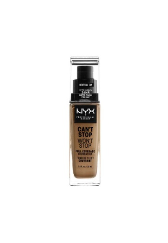 NYX Professional Makeup brown NYX Professional Makeup Can't Stop Won't Stop 24HR Foundation - NEUTRAL TAN 3E6A6BEF0F7E1FGS_1