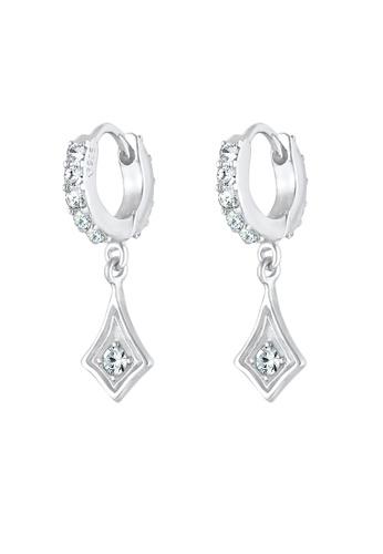 ELLI GERMANY white Swarovski Crystals Hoops Earrings 9C566AC8F76366GS_1