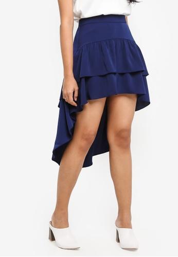 Preen & Proper navy Waterfall Skirt E8FB0AA8D133E1GS_1