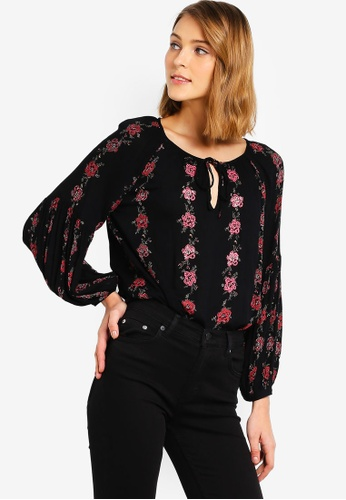 6080f87ef5d Buy French Connection Carina Crinkle Puff Sleeve Blouse Online on ZALORA  Singapore