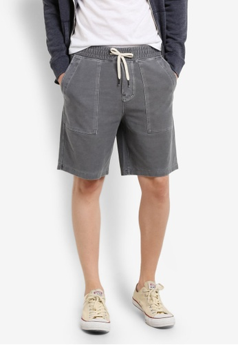 Abercrombie & Fitch grey Stretch Twill Shorts AB423AA0RDNQMY_1