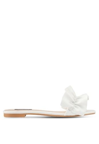 ZALORA white Ruffle Sandals 9E081SH848CFF9GS_1