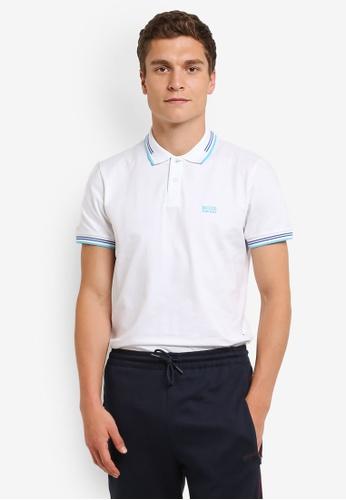 Boss Green white Paul Polo Shirt BO516AA0RPO3MY_1