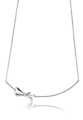 cade95c150f26 Bow Silver Collier Necklace