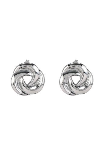 niko and ... silver Swirl Stud Earrings 3531BAC6F452A4GS_1